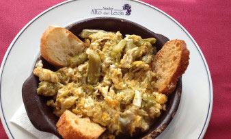 Restaurante-asador-Alto-del-leon-guadarrama-revuelto-de-ajetes